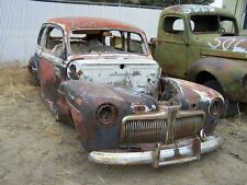 1942 FORD TUDORS, RARE,  PRICE FOR PAIR ONE WITH STRAIGHT BODY.  NO RESERVE.