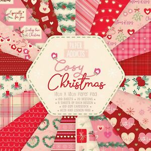 """Dovecraft : Paper Addicts : 4x4"""" Paper Pad 100 x 100gsm sheets : Cosy Christmas"""