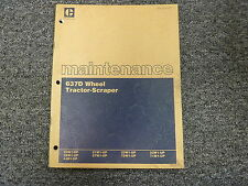 Caterpillar Cat 637D Tractor Scraper Shop Service Routine Maintenance Manual
