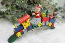 Gisela Graham Noël Train en bois Père Noël décoration