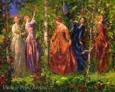 Gather Ye Rosebuds While Ye May by Thomas Mostyn - Women Flowers 8x10 Print 1137