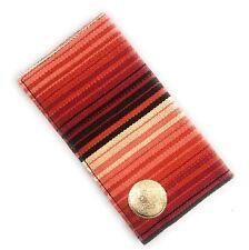 🌟Wallet Checkbook Holder, Red White Black Southwest Design, Bi-Fold W/ Concha