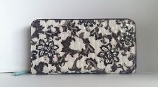 Clearance- Large Zip-around Purse, Antique Floral