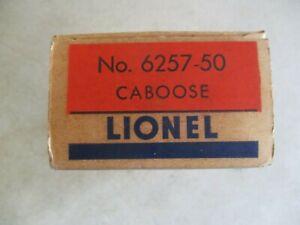 VINTAGE LIONEL NO.6257-50 CABOOSE O SCALE IN BOX TRAIN MODEL KIT