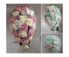 Brides,Bridesmaids,Flower girls Wedding bouquets Butterflies and pearls .