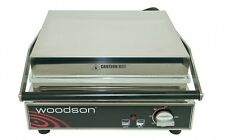 WOODSON CONTACT PRESS GRILL SANDWICH PANINI KEBAB COMMERCIAL FLAT PLATE TOASTER
