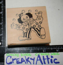 CLOWN JUGGLING DANCING RUBBER STAMP