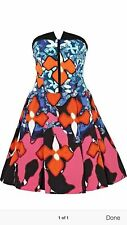 Peter Pilotto Prom Red Iris Puffy Skirt Dress Gown PROM Dance Holiday Party 6