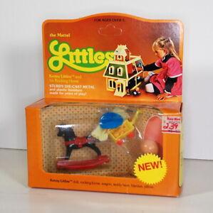 Vintage 80s The Littles Kenny Doll Rocking Horse NIP Diecast Dollhouse Furniture
