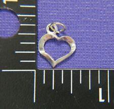 "Open Heart 1/2"" Vintage Charm Pendant, 820"