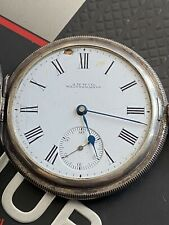 ANTIQUE WALTHAM POCKET Watch Serviced .925 SILVER 7J 16s TRAVELER Model 1899