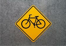 """BICYCLE CROSSING SIGN    /    16"""" X 16"""" ALUMINUM  SAFETY"""