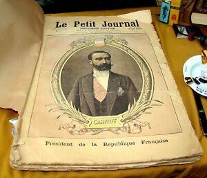 LE PETIT JOURNAL ANNÉES 1890 COMPLÈTE