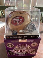 Joe Montana Signed Auto San Francisco 49ers NFL HOF Mini Helmet w/ BECKETT COA
