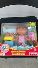 NEW Fisher Price Dora the Explorer Splash Around Dora and Twins Bath Toy