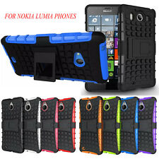 HEAVY DUTY TOUGH SHOCKPROOF WITH STAND CASE COVER FOR NOKIA LUMIA PHONES