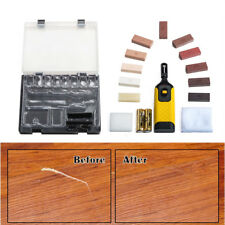 19pc Laminate Floor/Worktop Repair Kit Wax System Sturdy Chips Scratches UKDC