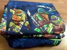 2 Curtain Panels And Twin Sheet Set Teenage Mutant Ninja Turtles