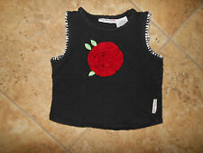 Girl's Black w/Red Rose Top Size 3T/4T