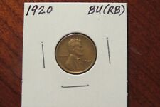 1920 Lincoln Cent (BU RB)