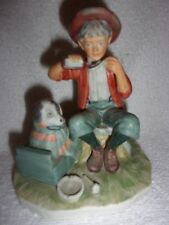 "Vintage Japan Gorham Norman Rockwell'S "" A Boy And His Dog"" Figurine"