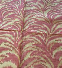 HIGHLAND COURT Gold Melon Pink Stripes 26x26 Fabric Remnant New Teflon Finish