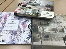 Sanderson sample books designer wallpaper craft card making 3 book lot