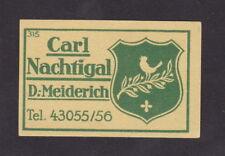 ancienne   étiquette  allumettes Allemagne BN42716 Oiseau