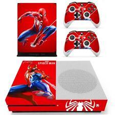 Xbox one S Slim Console Skin Set Marvel Spider Man Vinyl Stickers Decals Covers