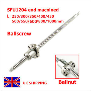 SFU1204 RM1204 250-1000mm Rolled Ball Screw End Machined + Ballnut For CNC