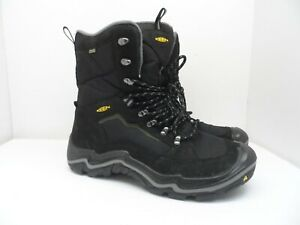 KEEN MEN'S DURAND POLAR WATERPROOF BOOTS BLACK/GARGOYLE Size 14M
