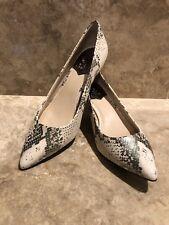 NEW VINCE CAMUTO Naureen Women's Kitten Heel Pumps Metallic Taupe Snake Sz 9M