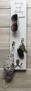 Personalised Vertical Key Hook/Key hook/New home gift/His hers/Sunglasses holder