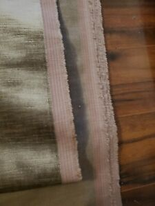 Taupe / Brown Heavy Shimmer Velvet Upholstery Fabric By The Yard