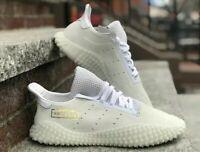Adidas Originals Kamanda 01 White Men Lifestyle Pigskin Gold DB2778 Size 9.5