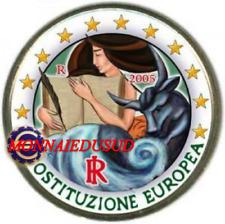 2 Euro Commémorative Italie 2005 en Couleur Type C - Constitution Européenne