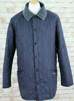 BARBOUR Liddesdale Navy Quilted Jacket size Medium