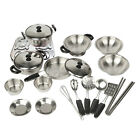 20x Kids Play House Toys Pots Pans Cooking Food Dishes Cookware Kitchen Utensils