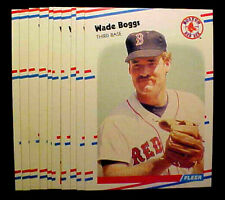 1988 Fleer WADE BOGGS ~ 20 CARD LOT ~ RED SOX & YANKEES HALL OF FAME INDUCTEE