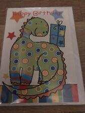 Boy dinosaur birthday card