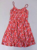 Anthropologie Women's V Neck Cami Twirl Dress HD3 Red Small NWT $178
