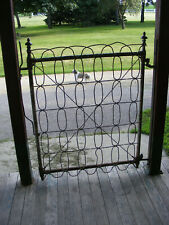 Antique Ornate Victorian Iron Garden Gate