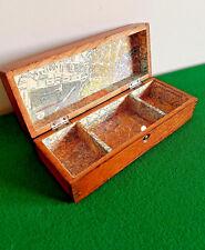 Vintage Oak Trinket Box,  By Wheeler & Wilson Sewing Machines