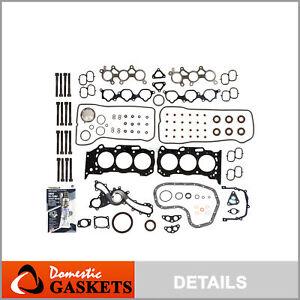 Fits 05-16 Toyota Camry Sienna Lexus ES350 RX350 3.5 Full Gasket Set Bolts 2GRFE