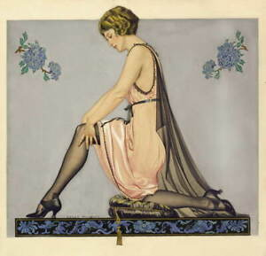 Coles Phillips Kneeling Woman Giclee Art Paper Print Poster Reproduction