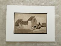 Original WW1 Painting Artwork Soldier War Art Signed Rural Landscape France