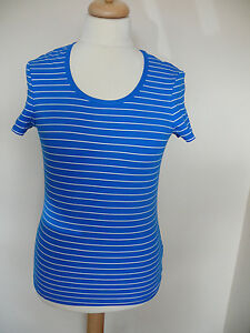 Boden striped short sleeve cotton t-shirt in blue or grey *REDUCED*