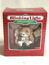 Hallmark Kitty Capers Blinking Light Christmas Keepsake Ornamnet