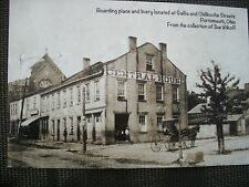 POSTCARD CENTRAL HOUSE BOARDING HOUSE LIVERY STABLE PORTSMOUTH OHIO OH