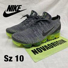 NEW Sz 10 Nike Air Vapormax Flyknit 3 Gunsmoke Volt AJ6900 009 running green max